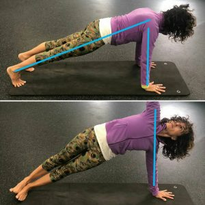 handstand prep - plank and side plank